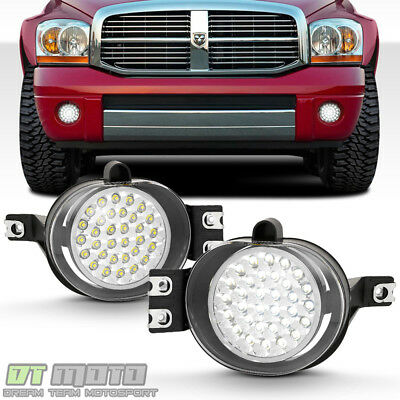 $69.99 • Buy 2002-2009 Dodge Ram 32 Super Bright SMD LED Fog Lights Lamps W/Switch Left+Right