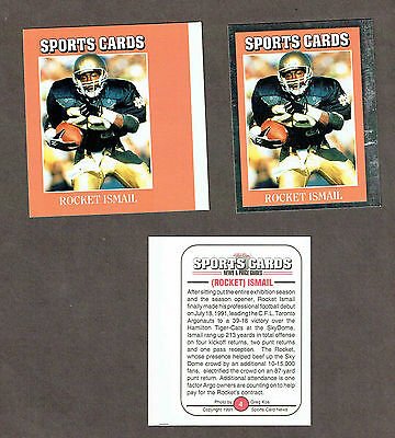 AU7.33 • Buy 1992 Sports Cards Insert Progressive Proof, Notre Dame And Argos' Rocket Ismail