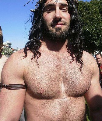 $ CDN3.64 • Buy Shirtless Male Beefcake Muscular Long Haired Dude Hairy Chest Photo 4X6 C1153