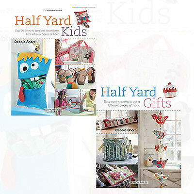 Half Yard Sewing Of Fabric 2 Books Collection Set By Debbie Shore NEW Paperback • 12.99£