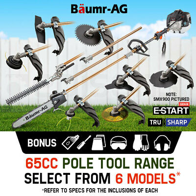 AU239 • Buy Baumr-AG Pole Chainsaw Hedge Trimmer Brush Cutter Whipper Snipper Multi Tool