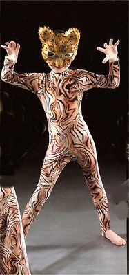 Leopard Tiger Or Red Tiger Print Dance Cats Catsuit All Sizes • 41.99£