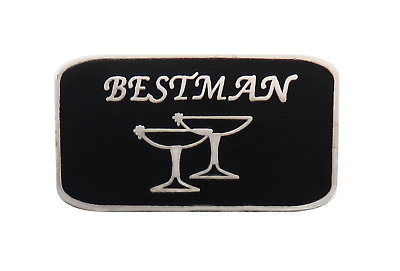 Best Man Wedding Stag Do Pin Badge • 4.50£