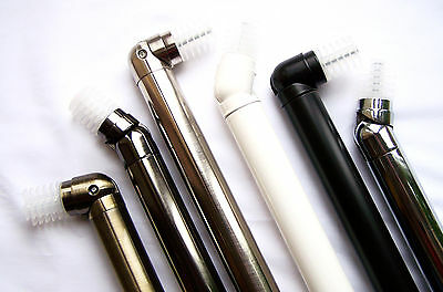 28mm Bay Window Curtain Pole Corner Bend Joint Elbow Brass Silver Black White Ch • 6.69£