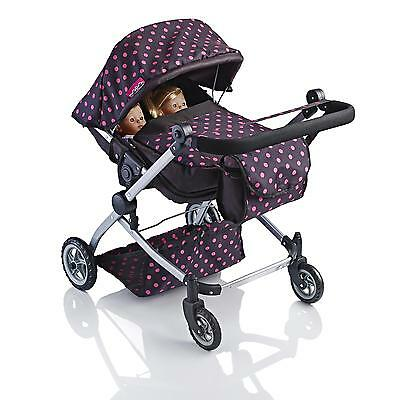 £36.99 • Buy Molly Dolly 2 In 1 Twin Deluxe Babyboo Doll Stroller/Pram Buggy Girls Junior Toy