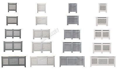 WestWood Radiator Cover - White Or Grey Wooden Radiator Wall Shelves Cabinet • 29.99£