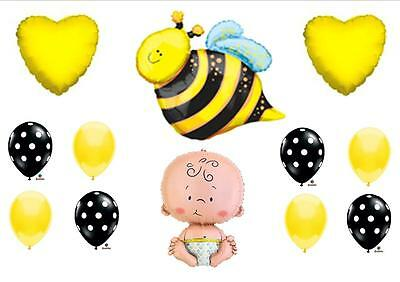 £11.93 • Buy What Will It  BEE  Baby Shower Balloons Decorations Supplies Gender Reveal Party