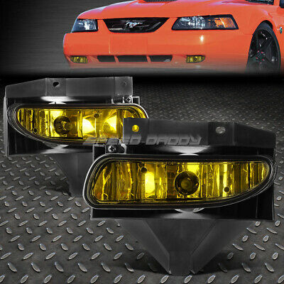 $27.88 • Buy For 99-04 Ford Mustang Gt Amber Lens Bumper Driving Fog Light Replacement Lamps