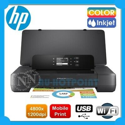 AU365 • Buy HP OfficeJet 200 Wireless A4 Portable Mobile Printer+ePrint Wi-Fi 62 Ink CZ993A