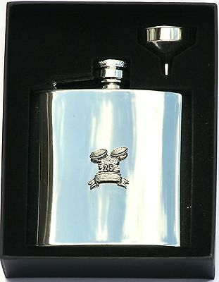 £28.99 • Buy Clays 6 Oz Hip Flask Personalised Shooting Gift Boxed FREE ENGRAVING