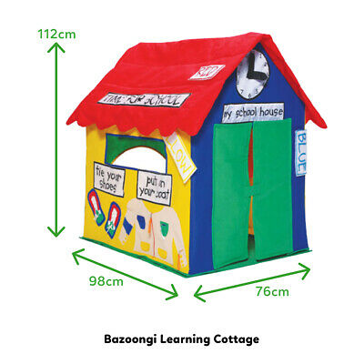 View Details Lifespan Kids Bazoongi Learning Cottage Pop Up Play Tent Indoor Cubby House Toy • 94.00AU