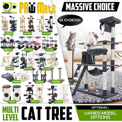 AU109.90 • Buy Cat Tree Scratching Post Scratcher Pole Gym Toy House Furniture Multi Level