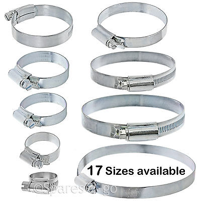 UNIVERSAL Pipe Hose Tube Steel Screw Clip Filter Pump Seal Clamp Small - Large • 5.29£