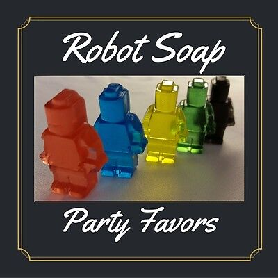 $11.99 • Buy Robot Birthday Party Favors Scented Soaps Boys Lego Inspired Robot Pack Of 25