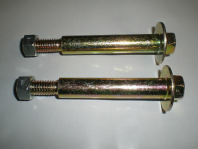 $6.75 • Buy (2) 193406 184219 137644 M84691 938-3056 Deck Wheel Bolts With Lock Nuts