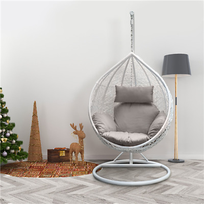 £355.99 • Buy Patio Rattan Swing Chair Garden Outdoor Hanging Egg Chair W/ Stand&Cushion&Cover