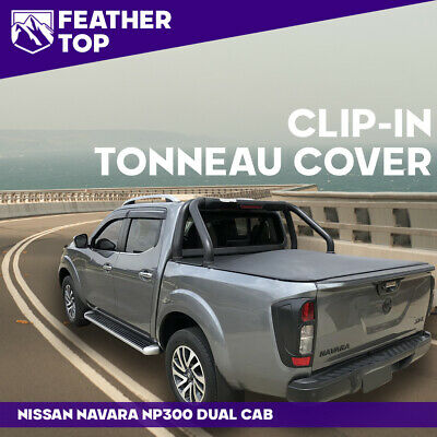 AU273 • Buy Feathertop Clip In Soft Tonneau Cover For Nissan NP300 Navara Dual Cab D23 Ute
