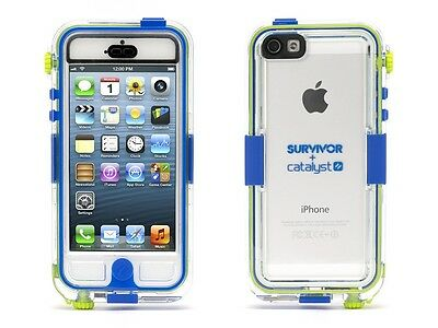 Griffin Survivor Waterproof And Catalyst For IPhone 5  Retail Packaging - Blue • 14.30£