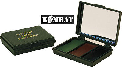 Army Combat Military Face Paint Camo Cream Camouflage Mirror Kit Set Surplus New • 6.99£