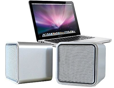 ILuv Sound Cube USB Micro Speakers Silver Finish For MacBook Laptop ISP160 • 10.59£