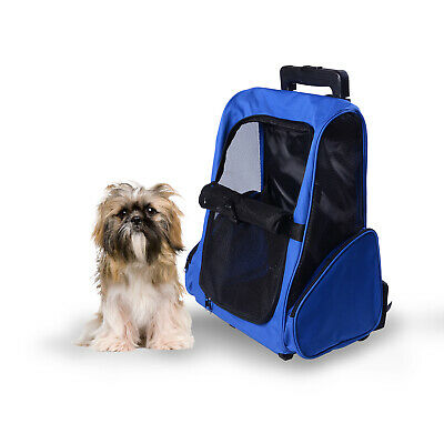 £25.99 • Buy PawHut Pet Travel Backpack Bag Cat Puppy Dog Carrier W/ Trolley And Telescopic