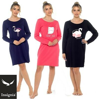 Ladies100/%Cotton Dreams /& Elephant Design Nightie Nightshirt by Forever Dreaming