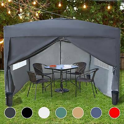 BIRCHTREE Waterproof 3x3m Pop Up Gazebo Marquee Garden Awning Party Tent Canopy • 89.99£