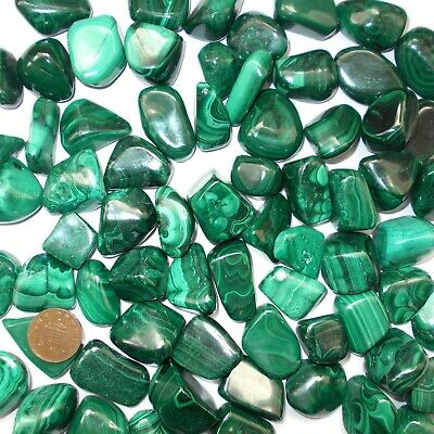 1 X Malachite Crystal Tumblestone Absorbs Negative Energies And Pollutants • 2.19£