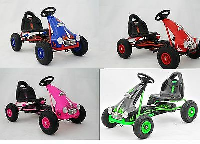 £999.99 • Buy New Pedal Push Ride On Kids Junior Go Kart Rubber Tyres Adjustable Seat