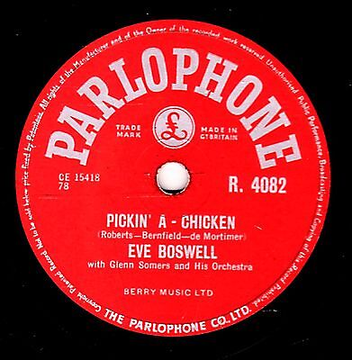 £14 • Buy George Martin - Eve Boswell 78  Pickin' A Chicken / Blue Star Uk#9 Parl R4082 E+