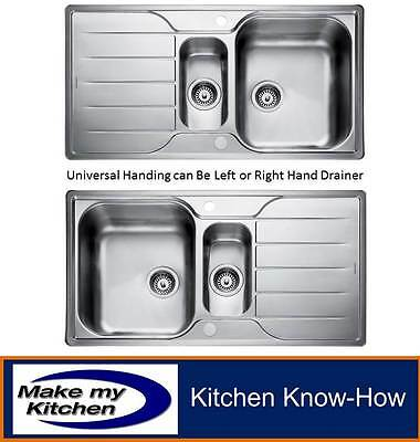£181.99 • Buy Rangemaster Michigan MG9502 1.5 Bowl Sink And Drainer With Waste Kit
