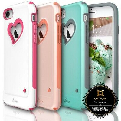 AU16.02 • Buy For IPhone 8 7 Vena【vLove】Heart-Shape Hybrid Dual Layer Case Cover Girl Cute