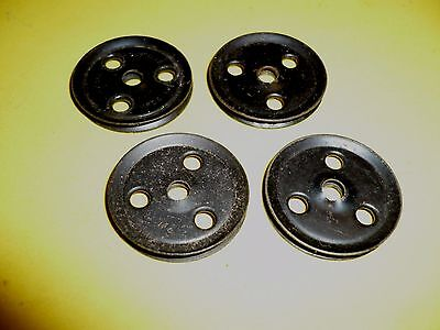 £2 • Buy Four Meccano Black Pulley Wheels Part 22a