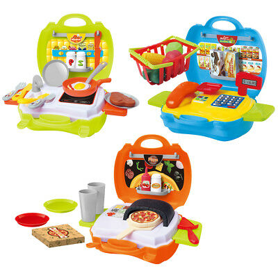 My Carry Along Pizza Shop / Supermarket / Kitchen Bake Off Travel Toys & Case • 5.99£