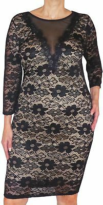 AU38.61 • Buy EE1 Funfash Plus Size Clothing Black Lace Cocktail Dress Made In USA 1x XL 16