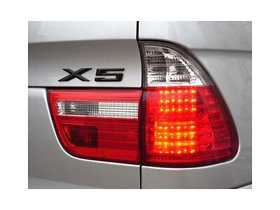 $360 • Buy Pair Red Clear LED Tail Lights Lamps 4 Pieces For BMW E53 X5 00-06 1 Yr Warranty