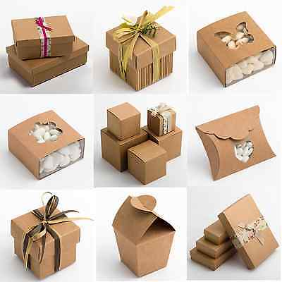 Natural Rustic Kraft Shabby Chic Wedding Favour Gift Boxes • 5.86£