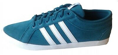 Adidas Womens ADIRA PS Lace Up Trainer M19525 TEAL/WHITE UK 3.5-7 Plimsoll SUEDE • 24.99£