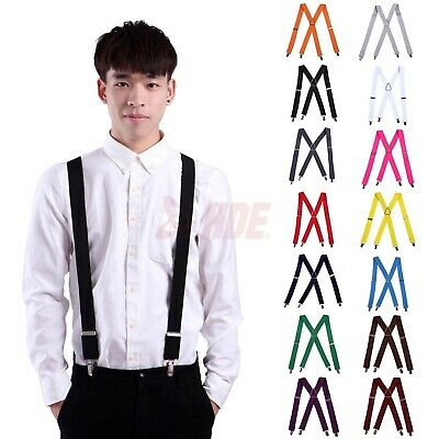 $10.99 • Buy Men's Big And Tall X-Back Clip Suspenders 1.5  Wide Adjustable 55  Long