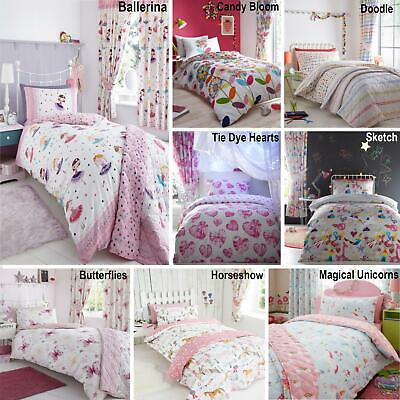 £22.66 • Buy Childrens Quilt Duvet Cover & Pillowcase Bedding Sets Or Matching Kids Curtains