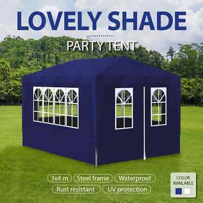 AU108.99 • Buy VidaXL Party Tent 3x4m Canopy Marquee Gazebo Pavillion With Wall White/Blue