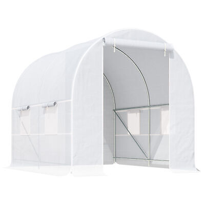 Outsunny 2.5x2x2m Walk-in Greenhouse Polytunnel Galvanized Plants Grow Tent • 74.99£