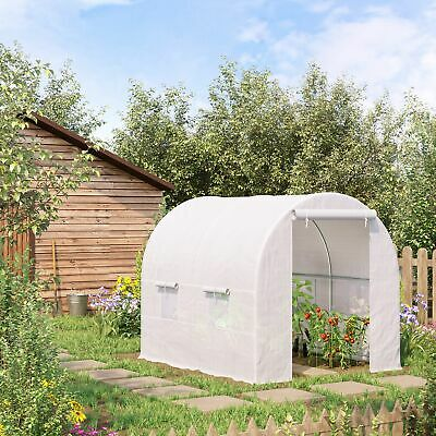 Outsunny Greenhouse Solid Frame Walk-in Garden Grow Large Insect Poly Tunnel • 69.99£