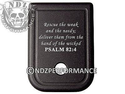 $19.99 • Buy For Glock Magazine Plate 17 19 22 23 26 27 34 35 9mm 40cal Bible Psalm 82:4