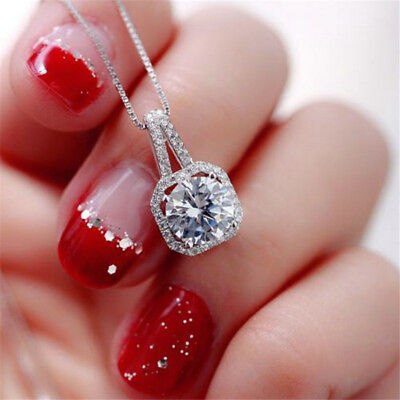 $1.01 • Buy New Fashion Crystal Charm Pendant Jewelry Chain Chunky Statement Choker Necklace