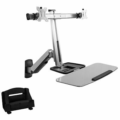 $139.99 • Buy Dual Monitor & Keyboard Sit-Stand Wall Mount | Standing Transition Workstation