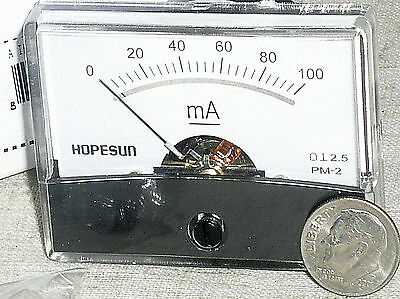 $18.29 • Buy Brand New 100 Ma 100ma Dc Milliamp Current Amp A Ammeter Analog Panel Meter Usa
