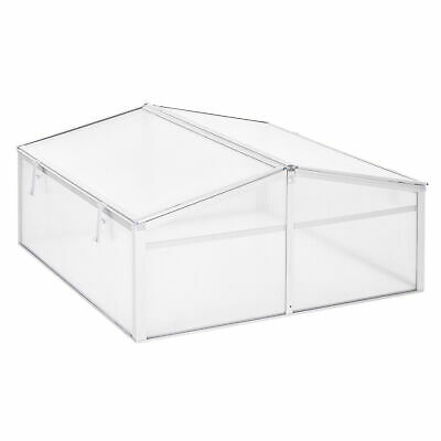 Outsunny Outdoor 2 Level Adjustable Roof Cold Frame Greenhouse Aluminium Frame • 40.99£
