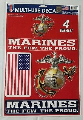 $11.95 • Buy Marines Multi Use Decals Stickers Clings US United States Military 11  X 17  New