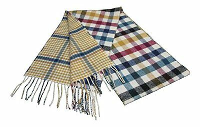 $41.68 • Buy 100% Lambswool Scarf Checked/Reversible Extra Long